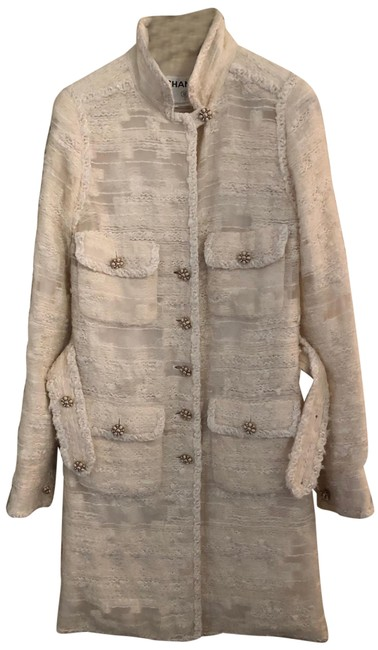 Item - Off White Lesage with Jeweled Buttons Jacket Size 4 (S)