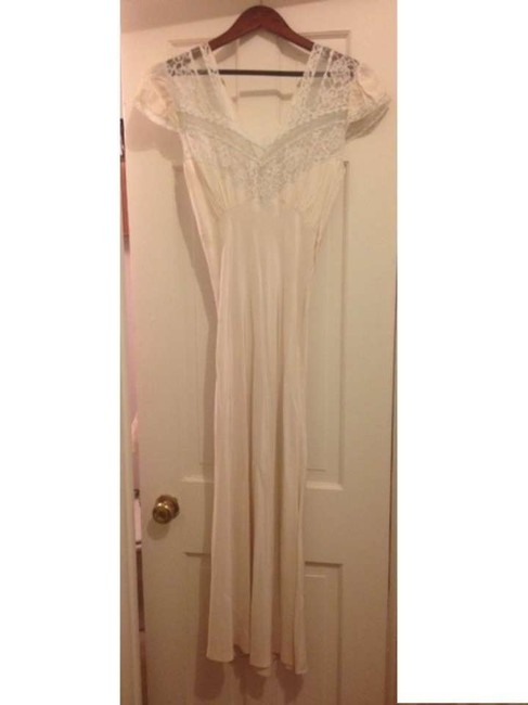 cream & pewter lace Maxi Dress by Other
