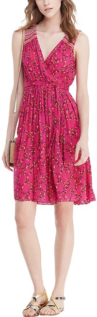 Item - Pink Dvf Silk Wrap Mid-length Cocktail Dress Size 6 (S)