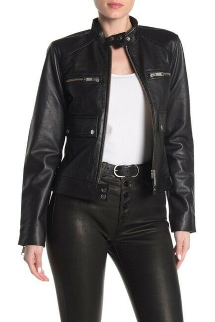 Item - Black The Biker Jacket Size 12 (L)