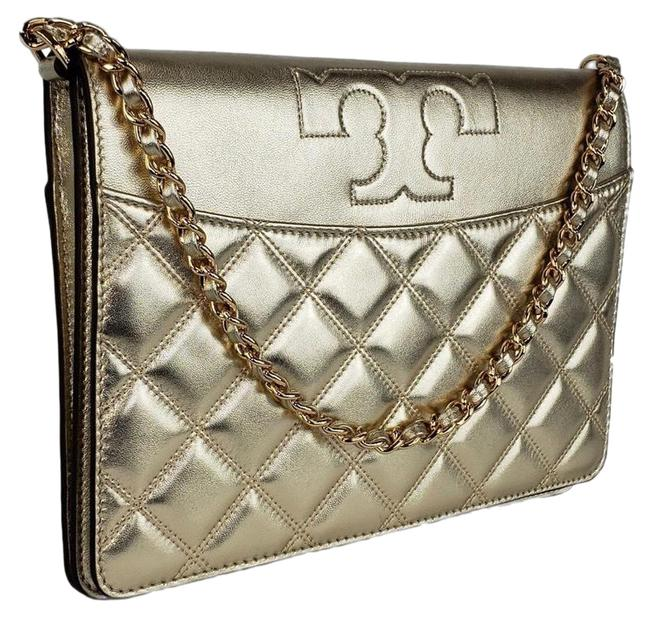 Item - Savannah Gold Embossed Leather Clutch