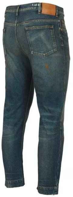 Item - Stonewashed Blue Coated New Men's Current Spot Faded Pants Straight Leg Jeans Size 12 (L, 32, 33)