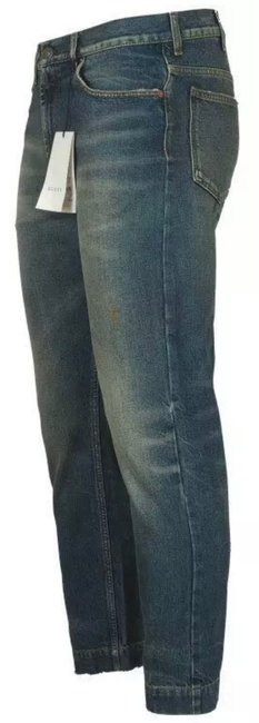 Gucci Stonewashed Blue Coated New Men's Current Spot Faded Pants Straight Leg Jeans Size 12 (L, 32, 33) Gucci Stonewashed Blue Coated New Men's Current Spot Faded Pants Straight Leg Jeans Size 12 (L, 32, 33) Image 2