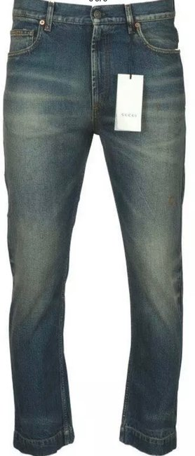 Gucci Stonewashed Blue Coated New Men's Current Spot Faded Pants Straight Leg Jeans Size 12 (L, 32, 33) Gucci Stonewashed Blue Coated New Men's Current Spot Faded Pants Straight Leg Jeans Size 12 (L, 32, 33) Image 3