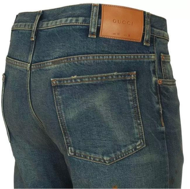 Gucci Stonewashed Blue Coated New Men's Current Spot Faded Pants Straight Leg Jeans Size 12 (L, 32, 33) Gucci Stonewashed Blue Coated New Men's Current Spot Faded Pants Straight Leg Jeans Size 12 (L, 32, 33) Image 4