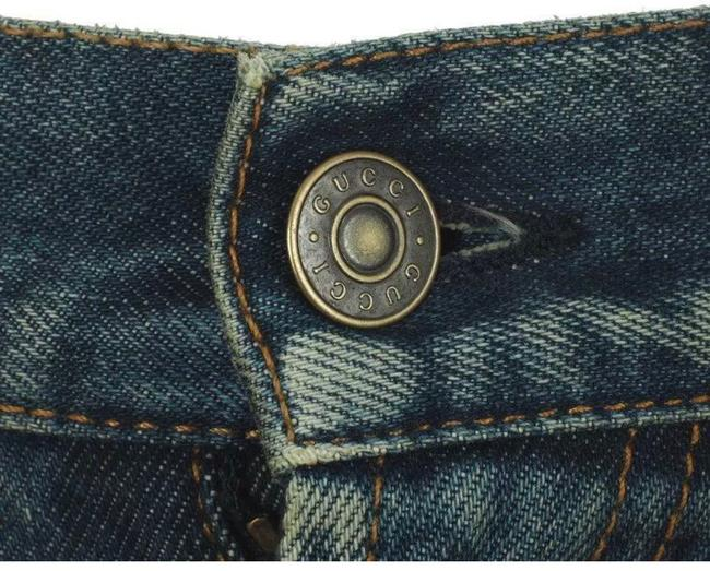 Gucci Stonewashed Blue Coated New Men's Current Spot Faded Pants Straight Leg Jeans Size 12 (L, 32, 33) Gucci Stonewashed Blue Coated New Men's Current Spot Faded Pants Straight Leg Jeans Size 12 (L, 32, 33) Image 6