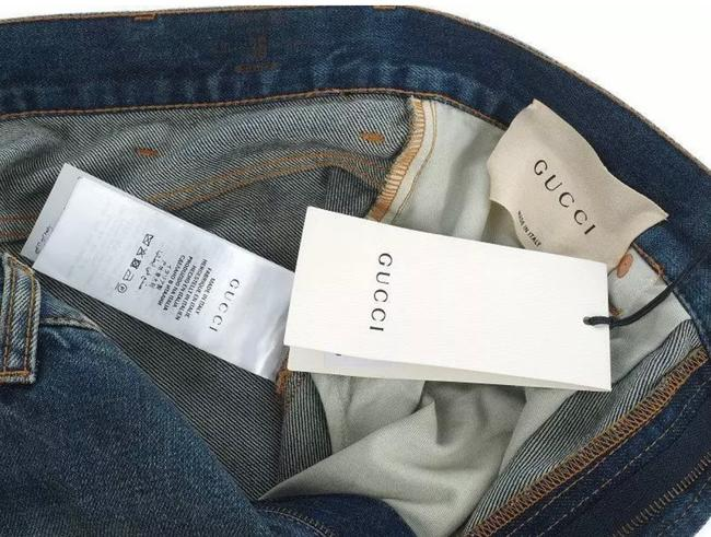 Gucci Stonewashed Blue Coated New Men's Current Spot Faded Pants Straight Leg Jeans Size 12 (L, 32, 33) Gucci Stonewashed Blue Coated New Men's Current Spot Faded Pants Straight Leg Jeans Size 12 (L, 32, 33) Image 7