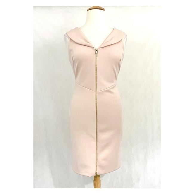 Item - Pink Ruffle Front Sheath Work/Office Dress Size OS