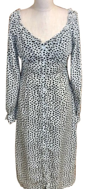 Item - Multicolor Button Front Dalmation Milkmaid Midi Mid-length Casual Maxi Dress Size 6 (S)