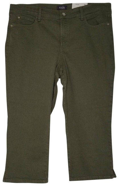 Item - Green Marilyn Crop Topiary Lift Tuck Technology Stretch Capri/Cropped Jeans Size 36 (14, L)