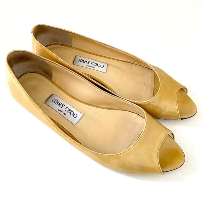 Item - Nude Open Toe Ballerinas Flats Size EU 39.5 (Approx. US 9.5) Regular (M, B)