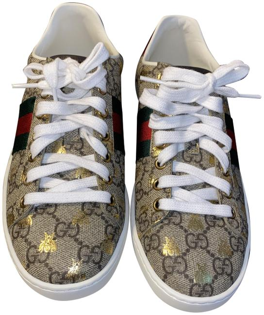 Item - Tan Women's Ace Gg Supreme Sneaker with Bees Formal Shoes Size EU 35 (Approx. US 5) Regular (M, B)