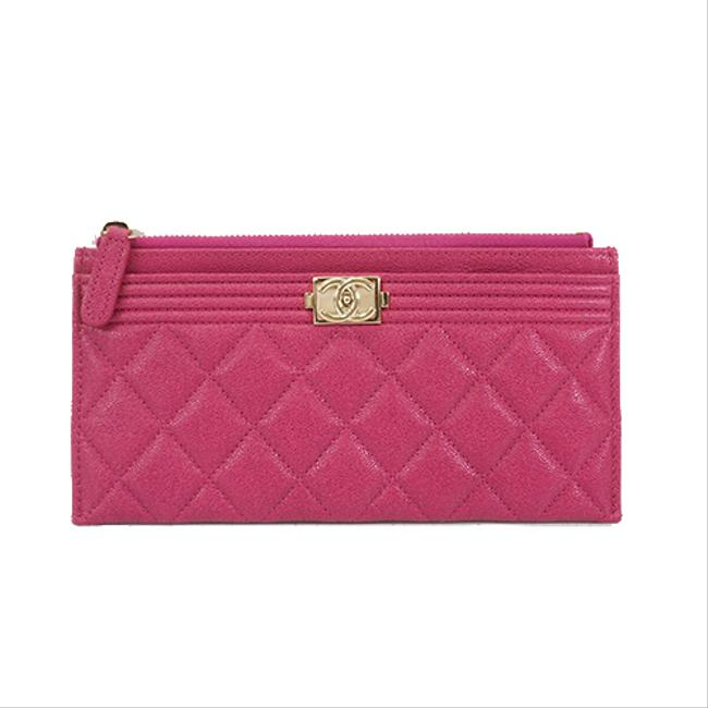 Item - Pink Boy A69080 Women's Caviar Leather Caviar Leather Coin Purse Wallet
