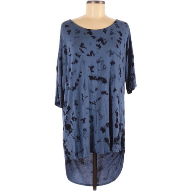 Item - Blue L And Open Back Short Sleeve Tunic Size 12 (L)