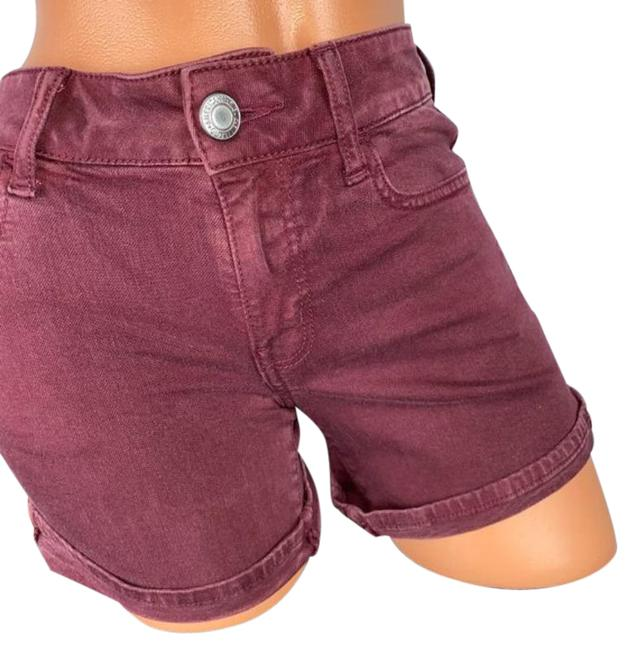 Item - Red Pink Maroon Reddish Twill Shorts Size 4 (S, 27)