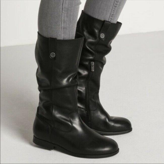 Item - Black Sarnia High Leather Slouchy Flat Tall Boots/Booties Size US 5.5 Regular (M, B)