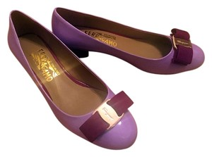 Salvatore Ferragamo Bow Limited Edition Purple Pumps