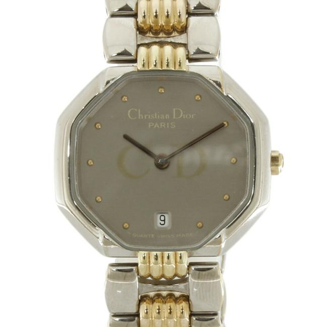 Item - Combi Depose Date Octagon D48203 Gold Ladies Stainless Steel Watch