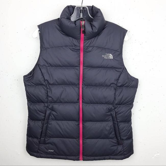 Item - Gray Nuptse Puffer Medium Vest Size 8 (M)