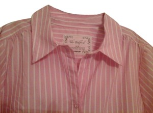 Avenue Button Down Shirt Pink w/white pinstripes
