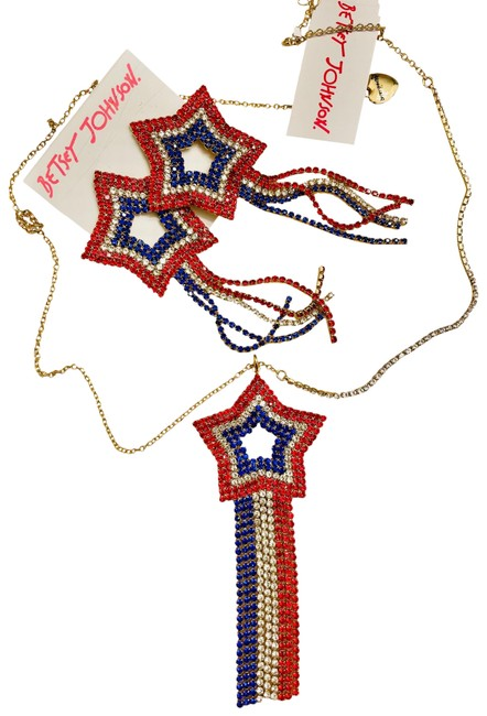 Item - Red White Blue Star Necklace