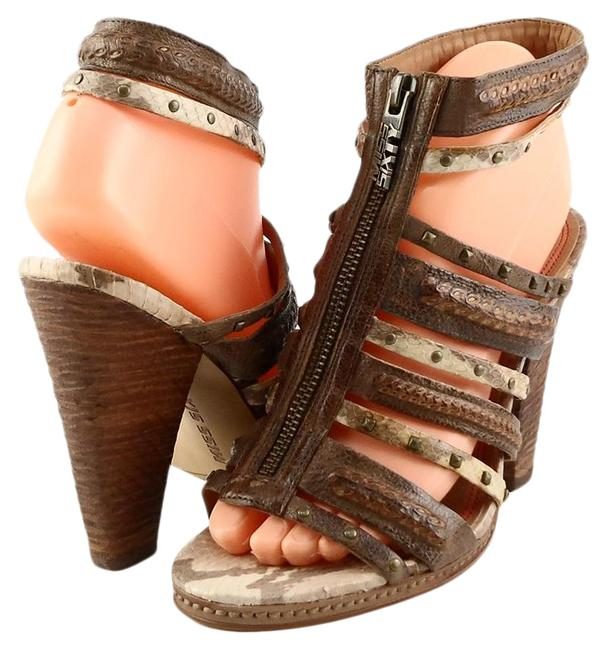 Item - Brown Multi Quincy Leather Open 8 Sandals Size EU 38 (Approx. US 8) Regular (M, B)