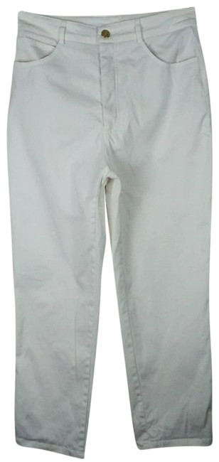 Item - White Sport Solid Stretch 4 Straight Leg Jeans Size 27 (4, S)