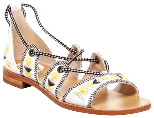 House of Harlow 1960 White Gabrielle Ankle Wrap Gladiator 37eu/ 6.5 Sandals Size EU 37 (Approx. US 7) Regular (M, B) House of Harlow 1960 White Gabrielle Ankle Wrap Gladiator 37eu/ 6.5 Sandals Size EU 37 (Approx. US 7) Regular (M, B) Image 1