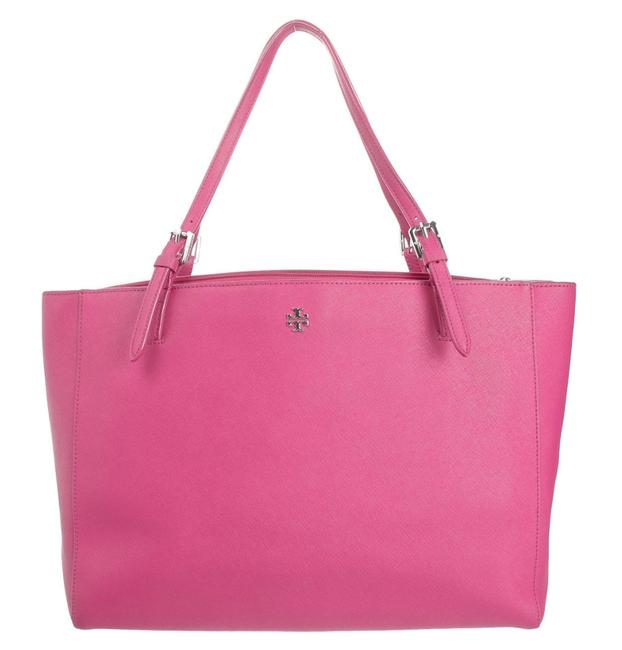 Item - Buckle Pink Leather Tote