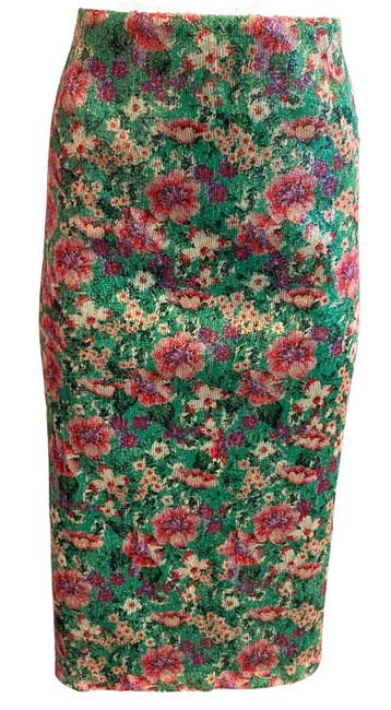Item - Green / Pink Sequins Skirt Size 12 (L, 32, 33)