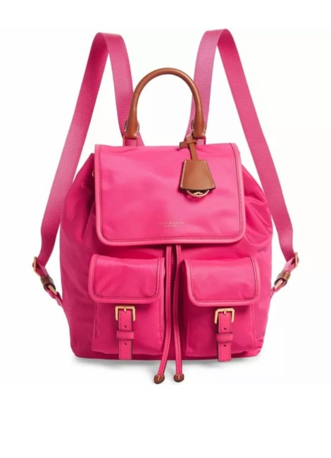 Item - Perry Flap Bright Pink Nylon Backpack