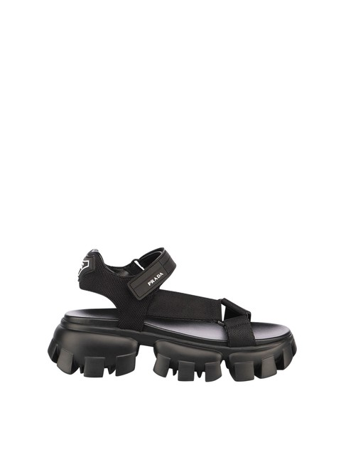 Item - Black Leather and Nylon In Polyamide Sandals Size EU 40 (Approx. US 10) Regular (M, B)