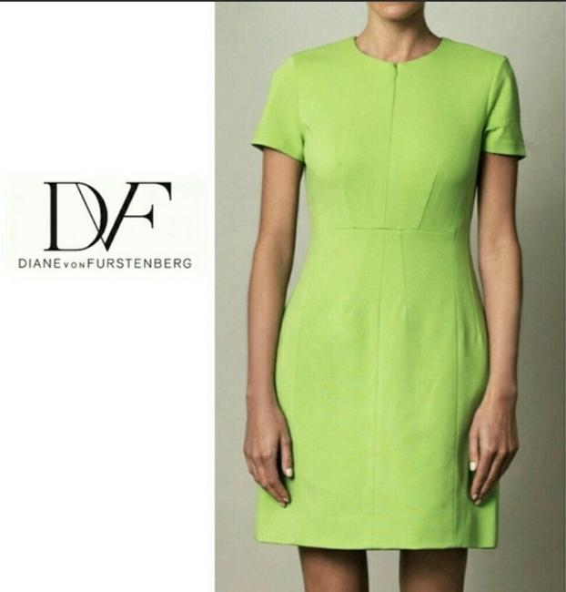 Item - Green Agatha Knit Suiting Mid-length Short Casual Dress Size 14 (L)