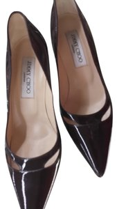 Jimmy Choo Chocolate Brown Patent Leather Pumps