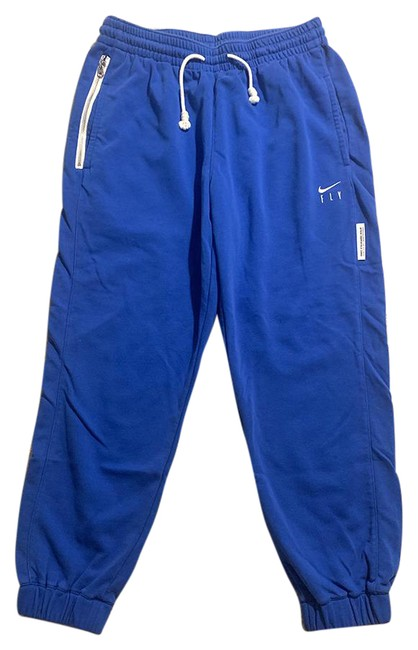Item - Blue Swoosh Fly Standard Issue Sweatpants Activewear Bottoms Size 12 (L, 32, 33)