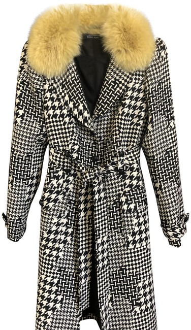 Item - Black and White Houndstooth Rn 61839 Jacket Size 10 (M)