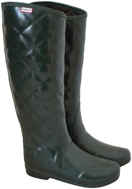 Item - Green Quilted Boots/Booties Size US 6 Regular (M, B)