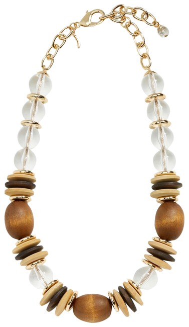 Item - Brown Beaded Statement Necklace