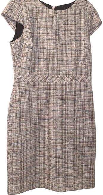 Item - Pink Tweed Mid-length Work/Office Dress Size 10 (M)