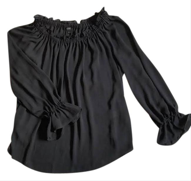Item - Ruffle Off The Shoulder Peasant Blouse Size Petite 6 (S)