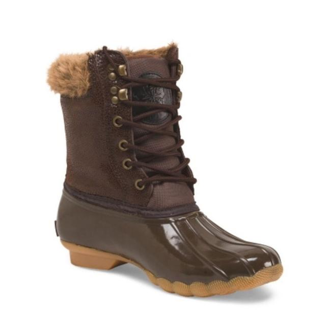 Item - Brown Faux Fur Lined Weather Snow Duck Bnwt Boots/Booties Size US 8 Regular (M, B)