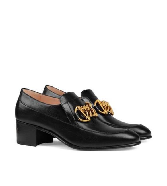 Item - Horsebit Black 588960 Chain Ice Lolly Leather Loafer Flats Size EU 37.5 (Approx. US 7.5) Regular (M, B)