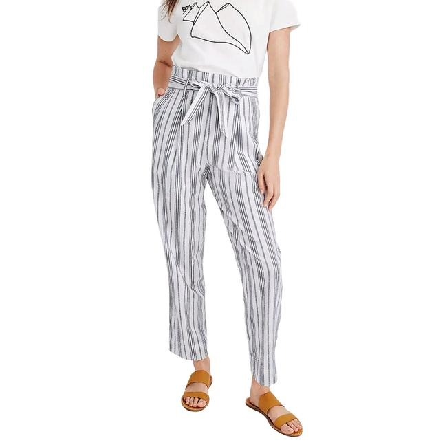 Item - Linen-cotton Paperbag In Dark Baltic Stripe Pants Size 4 (S, 27)