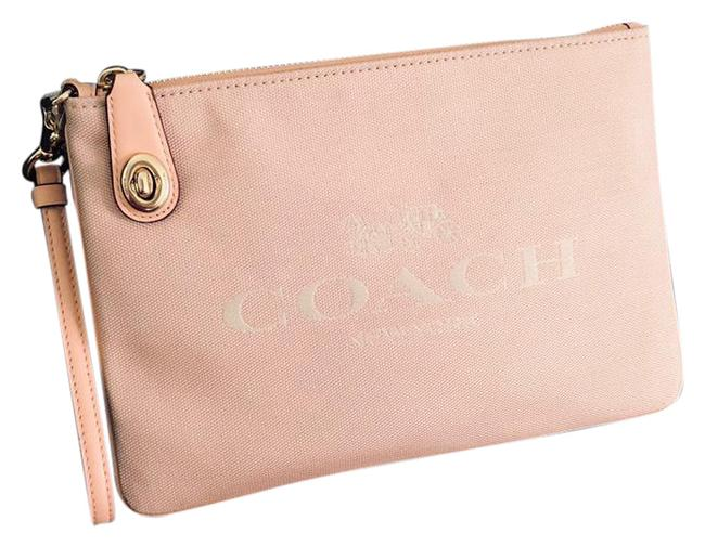 Item - Large Turnlock Pouch 26 Blush Fabric Wristlet