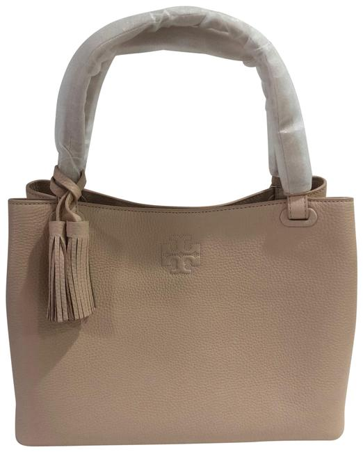 Tory Burch Bag Thea Center Zip Sweet Melon Leather Tote Tory Burch Bag Thea Center Zip Sweet Melon Leather Tote Image 1