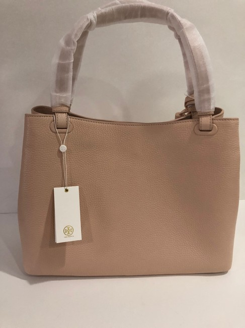 Tory Burch Bag Thea Center Zip Sweet Melon Leather Tote Tory Burch Bag Thea Center Zip Sweet Melon Leather Tote Image 2