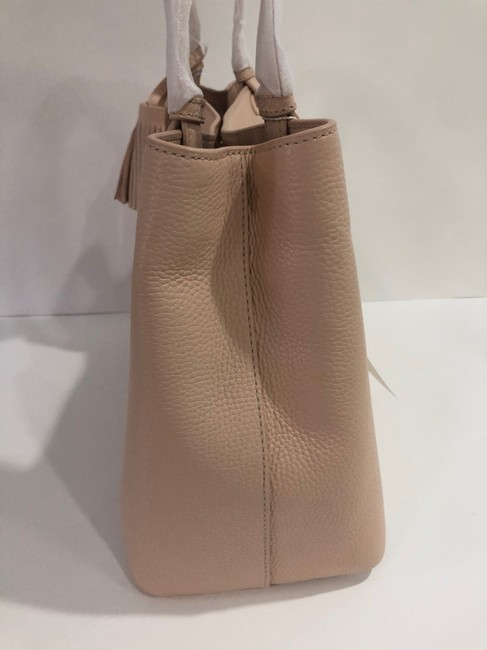 Tory Burch Bag Thea Center Zip Sweet Melon Leather Tote Tory Burch Bag Thea Center Zip Sweet Melon Leather Tote Image 4