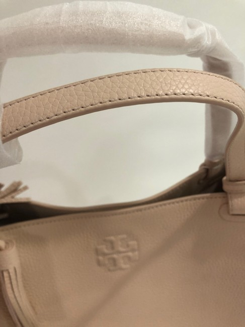 Tory Burch Bag Thea Center Zip Sweet Melon Leather Tote Tory Burch Bag Thea Center Zip Sweet Melon Leather Tote Image 6
