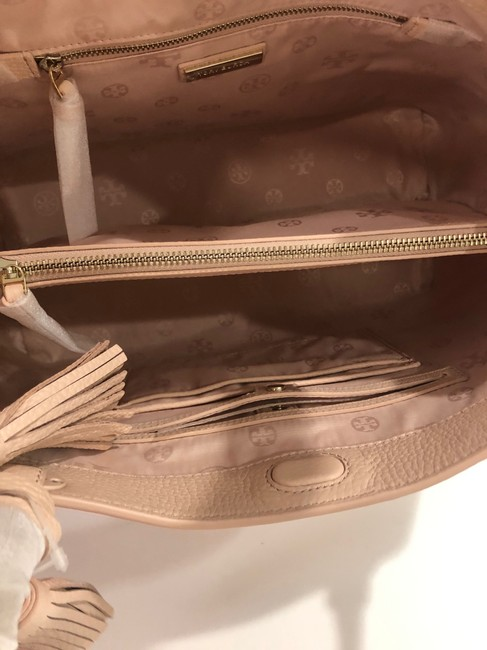 Tory Burch Bag Thea Center Zip Sweet Melon Leather Tote Tory Burch Bag Thea Center Zip Sweet Melon Leather Tote Image 7
