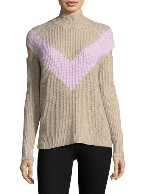 Item - Tan and Pink Graham Chevron Sweater Sweatshirt/Hoodie Size 8 (M)